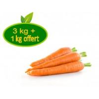 Carottes  Lavées / 3 kg + 1kg offert