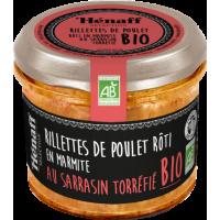 Rillettes de poulet rôti en marmite au sarrasin torréfié Bio - 90g